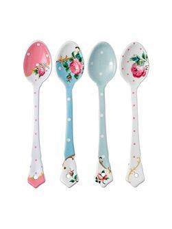 Set of 4 ceramic spoons