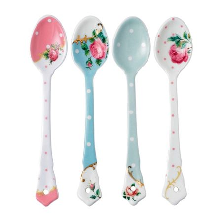 Royal Albert Set of 4 ceramic spoons