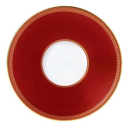 Wedgwood Renaissance red tea saucer