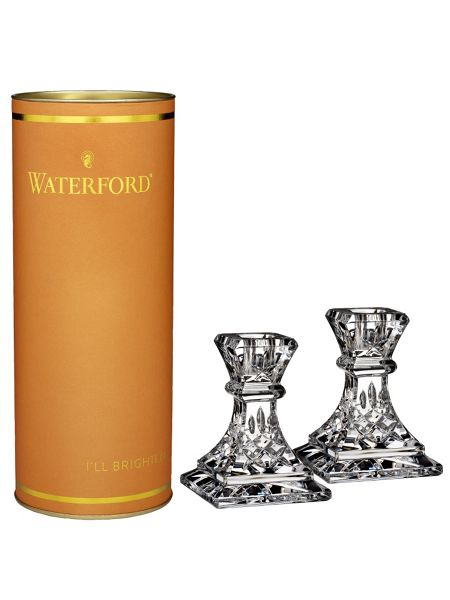 Waterford Giftology lismore candlestick set of 2