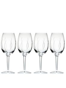 John rocha flow-weft goblet set of 4