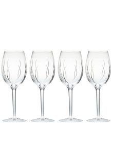 John rocha flow-weft wine set of 4