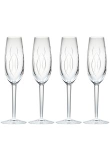 Waterford John rocha flow-weft flute set of 4