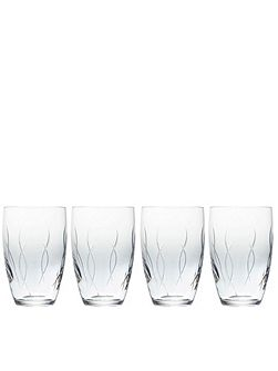 John rocha flow-weft tumbler set of 4