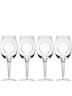 Waterford john rocha flow-circa goblet set of 4