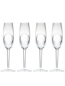 Waterford john rocha flow-circa flute set of 4