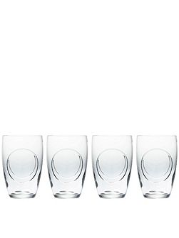 john rocha flow-circa tumbler set of 4
