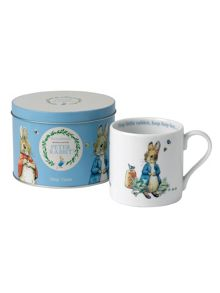 Wedgwood Peter rabbit boys mug in tin