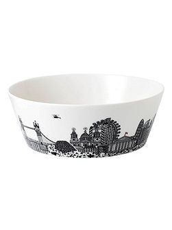 Charlene mullen london calling large serving bowl