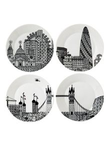Royal Doulton Charlene mullen london calling plates set of 4