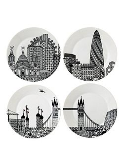 Charlene mullen london calling plates set of 4