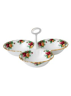 Old country roses divided tray 13cm/5.1in (gw)