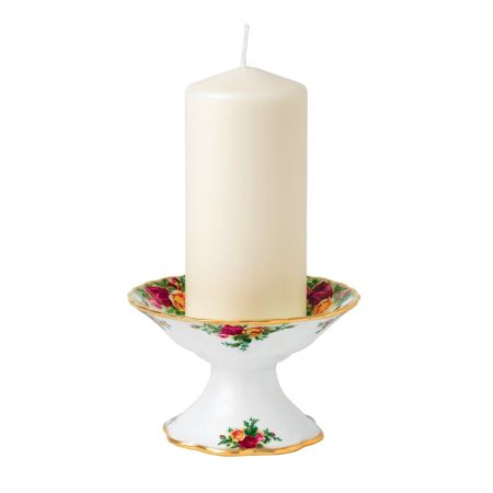 Royal Albert Old country roses pillar candleholder 8cm/3.2in