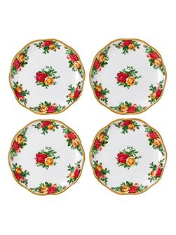 Old country roses set of 4