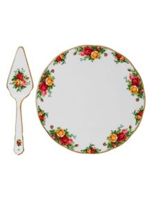Royal Albert Old country roses cake plate & server