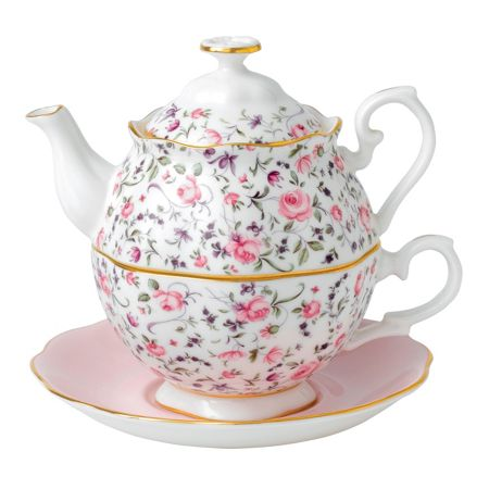 Royal Albert Rose confetti tea for one 0.49ltr/1.03pt (tp)