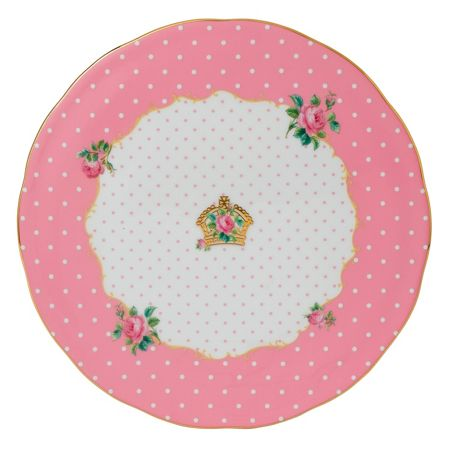 Royal Albert Cheeky pink cake plate 29cm / 11.4in