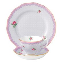 Royal Albert Love lilac teacup, saucer & 20cm plate (3p set)