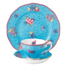Royal Albert Honey bunny teacup, saucer & 20cm plate (3p set)