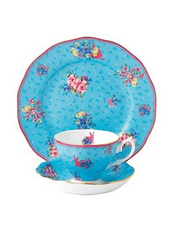 Honey bunny teacup, saucer & 20cm plate (3p