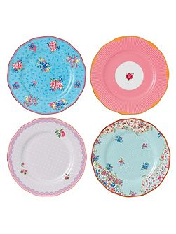 Candy mix mixed set of 4 plates