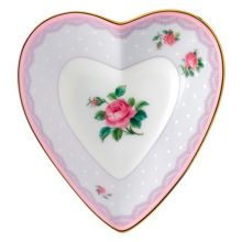 Royal Albert Love lilac heart tray 13cm/5.1in