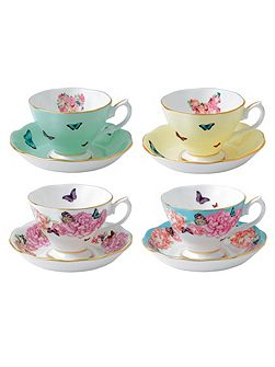 Miranda kerr set of 4 teacup & saucers