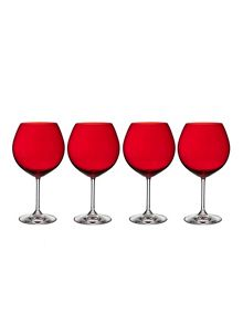 Marquis vintage jewels red balloon wine set of 4