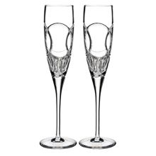 Wedding vows flute pair