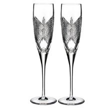 Waterford Wedding happiness flute pair