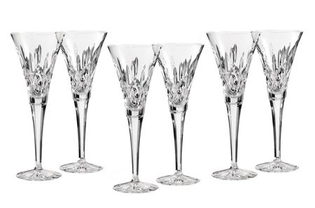 Waterford Lismore classic lismore toasting flute set 6