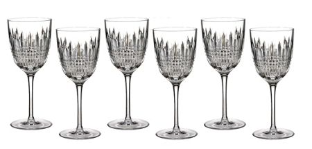 Waterford Lismore diamond goblet set of 6
