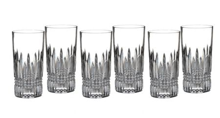 Waterford Lismore diamond hiball set of 6