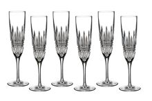 Waterford Lismore diamond flute set of 6
