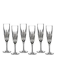 Lismore diamond flute set of 6