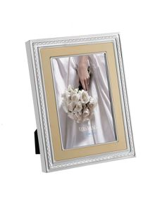 Wedgwood Vera wang with love photo frame, gold