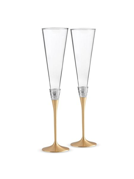 Wedgwood Vera wang with love toasting flute set of 2