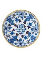 Wedgwood Hibiscus Blue and Gold Plate 20cm