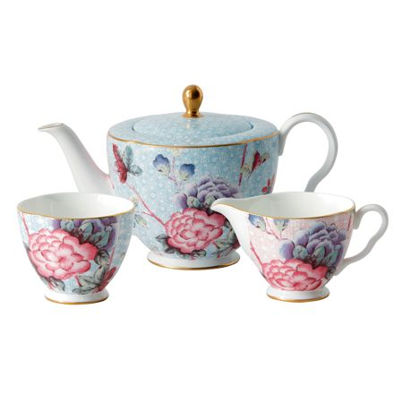 Wedgwood Cuckoo teapot sugar & cream