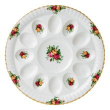 Royal Albert Old country roses devilled egg dish