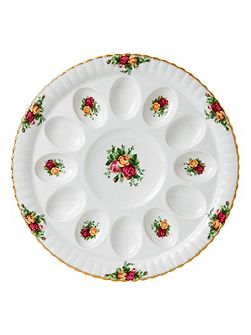 Old country roses devilled egg dish