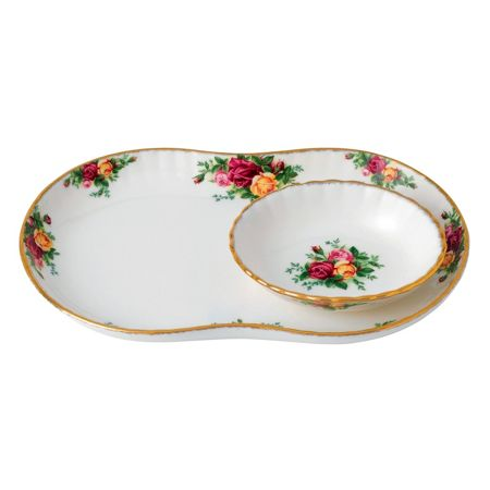 Royal Albert Old country roses crudite server