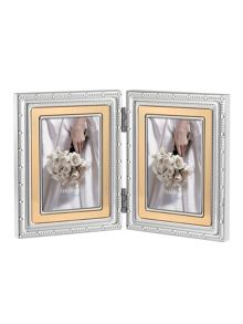 Vera wang with love gold folding photo frame