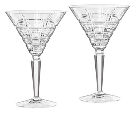 Waterford Crosby martini pair