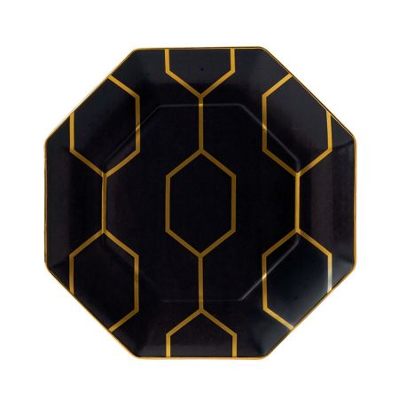 Wedgwood Arris octagonal side plate charcoal 23cm
