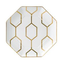 Arris octagonal side plate white 23cm