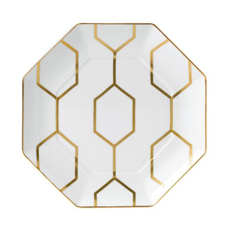 Wedgwood Arris octagonal side plate white 23cm