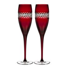 Waterford Red flute (Set of 2)