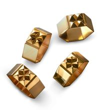 Waterford Rebel Napkin Rings Set 4