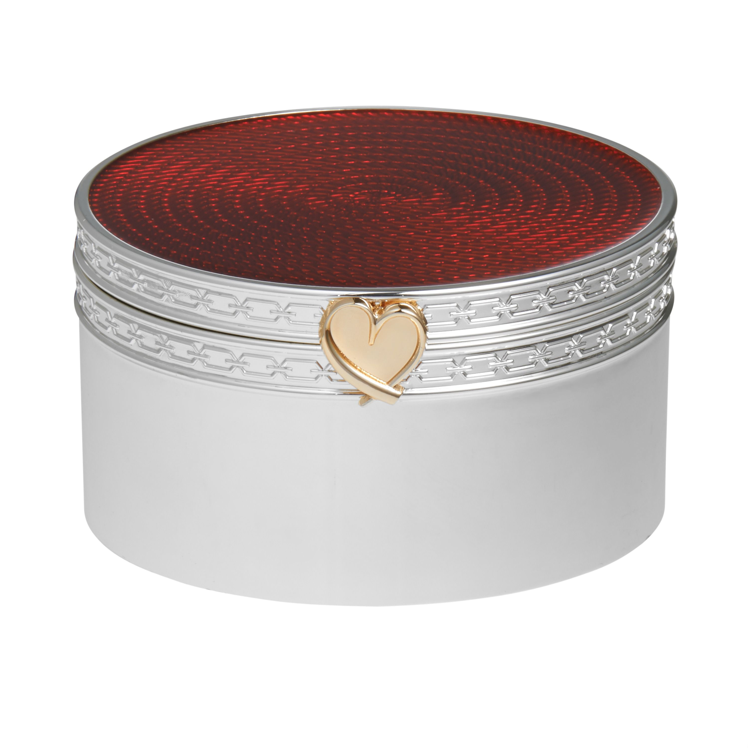 Wedgwood Treasures with love red heart treasure box, N/A